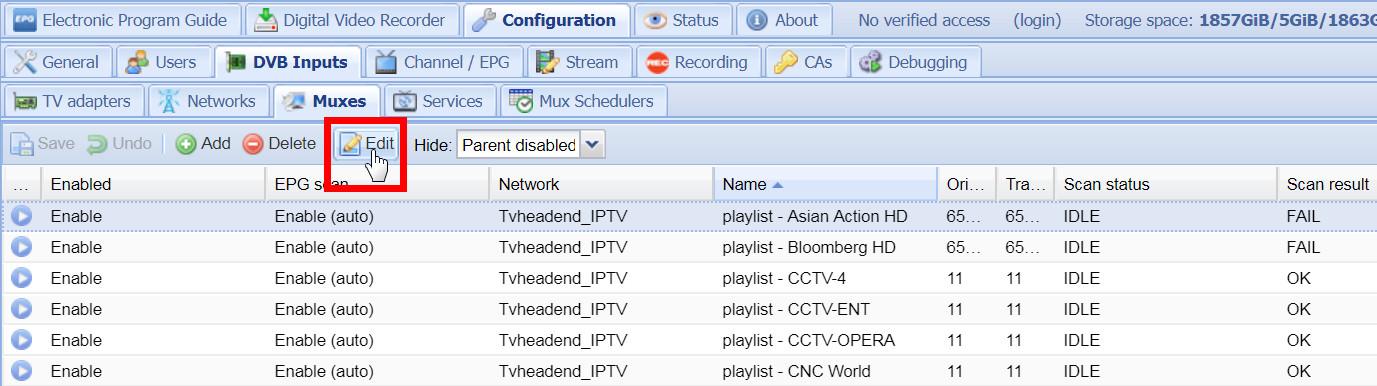 Tvheadend to Tvheadend 無損轉發簡單教學- 數碼廣播- 電腦領域HKEPC